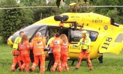 Bedizzole, paura per un bimbo soccorso da un elicottero