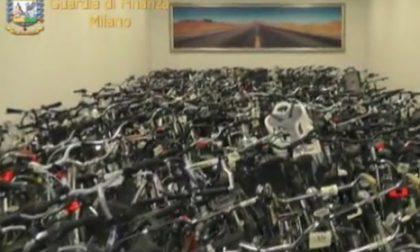 Bici rubate, più di 500 in un capannone