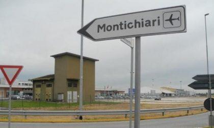 Montichiari, atterraggio d'emergenza