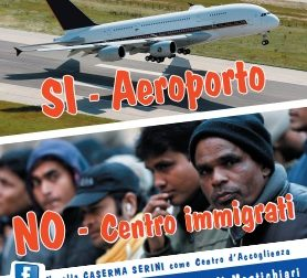 """Si all'aeroporto No agli immigrati"""