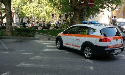 Caduta in piazza Garibaldi, paura per un bimbo