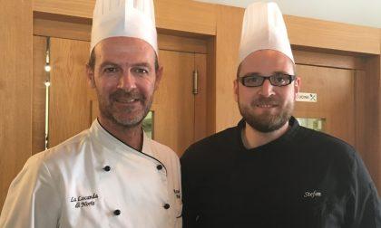 Chef Maurizio e il tortino di asparagi con gamberi