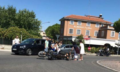 Desenzano, scontro auto moto