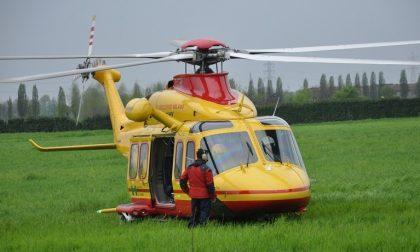 Incidente sulla ss669. 52enne soccorso con l'elicottero