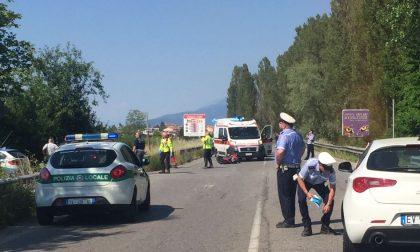 Grave incidente auto e moto a Desenzano