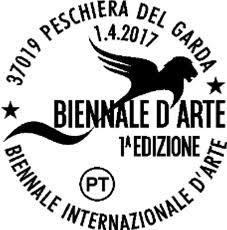 Iniziativa filatelica per la Biennale d'Arte di Peschiera