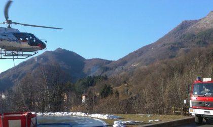 Monte Pizzoccolo vittima di incendio