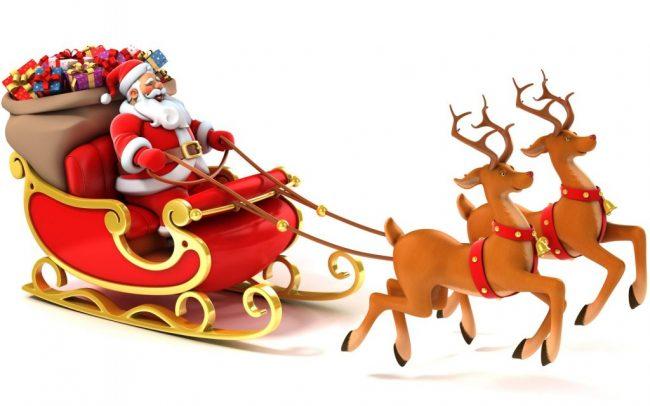 Slitta Babbo Natale Immagini.Babbo Natale Con La Slitta In Paese Brescia Settegiorni