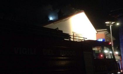 Incendio a Trenzano, brucia un sottotetto