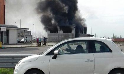 Incendio all'idrotermica Zoni di Calvisano