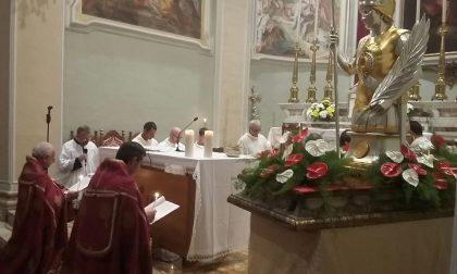 Benedizione del nuovo reliquiario di San Fedele a Palazzolo