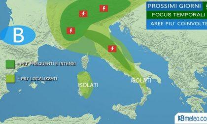 Meteo Brescia, rischio temporali fino a giovedì poi il sole