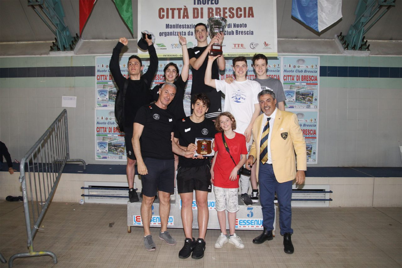 Trofeo Città di Brescia sul podio nuotatore della provincia