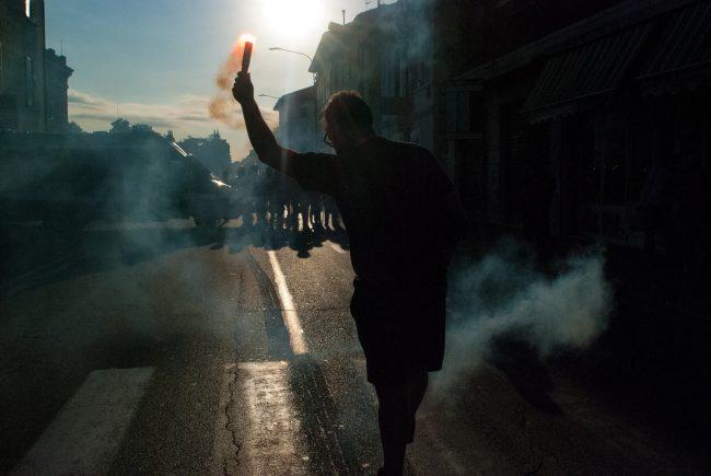 Proteste in via Milano per la nuova sede di FN