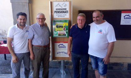Donato defibrillatore ai pensionati di Palazzolo