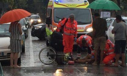 Anziano cade in bici a Montichiari