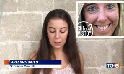Manuela Bailo scomparsa: l'appello della sorella Arianna in tv