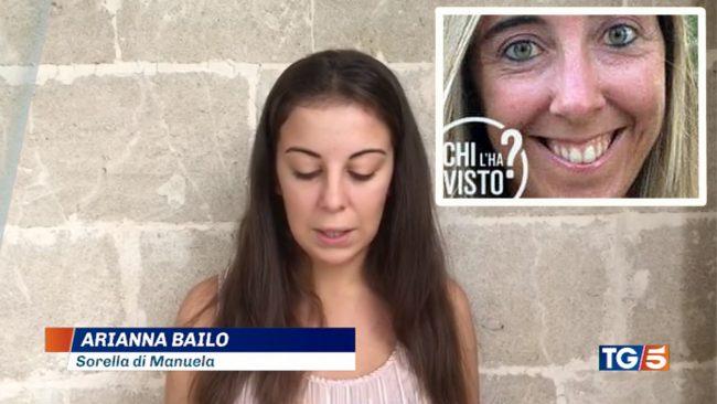 Manuela Bailo scomparsa: l&#8217&#x3B;appello della sorella Arianna in tv