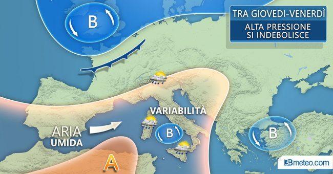 Meteo Brescia, qualche pioggia e poi caldo nel weekend