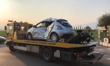 Schianto automobilistico a Provaglio, il giovane centauro è grave