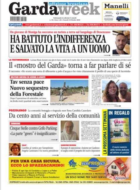 Gardaweek è in edicola. La prima pagina edizione bresciana