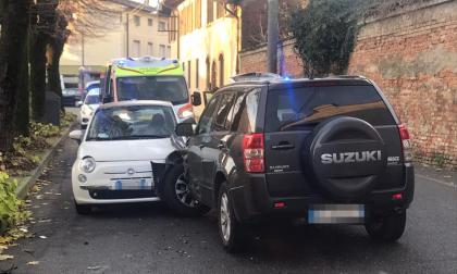 Scontro tra auto a San Gervasio Bresciano