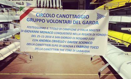 Circolo Canottaggio Gruppo Volontari del Garda campioni d'Italia