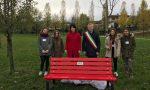 Panchina rossa al parco don Giussani di Pozzolengo