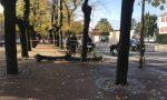Vigili del fuoco in azione sul viale a Chiari FOTO E VIDEO