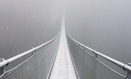Battesimo della neve per il Ponte nel Cielo FOTO VIDEO