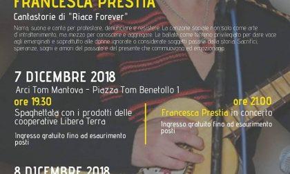 Francesca Prestia in concerto per i diritti umani.