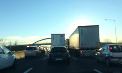 Traffico bloccato in A4 da Ospitaletto in direzione Brescia