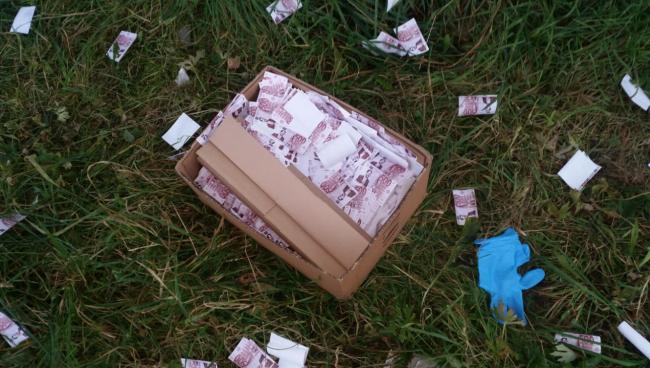 Incursione vandalica, una pioggia di soldi sul pratone di Pontida