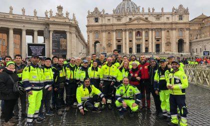 Protezione civile da Brescia a Roma per incontrare il Papa