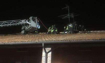 Incendio a Offlaga, fuori casa due famiglie ma poteva andare peggio
