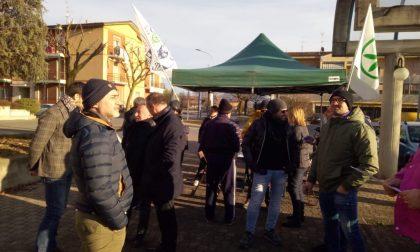 """Gazebo Lega Nord di Palazzolo: """"No alla moschea di via Puccini"""" VIDEO"""