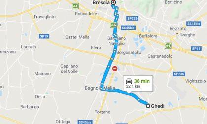 Chiusura sottopasso via Borgosatollo, le strade alternative per Brescia