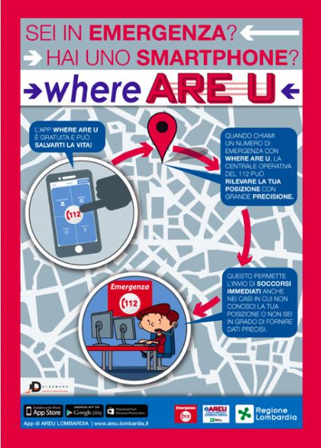 App Where are U di Areu scaricabile gratuitamente