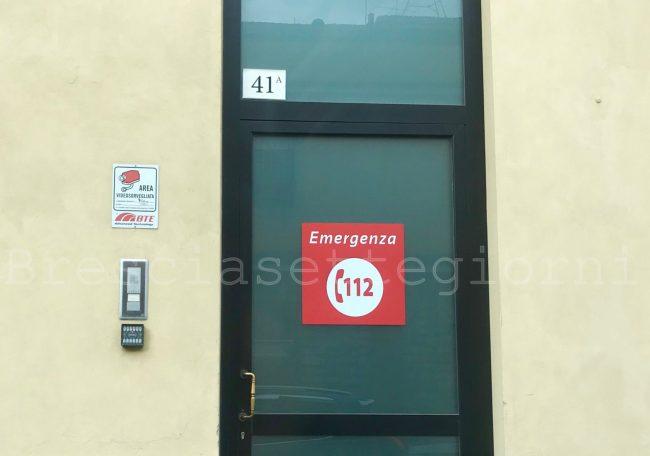 Brescia ingresso sede centrale operativa 112