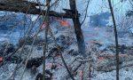 Incendio sul Monte Orfano: Vigili del fuoco al lavoro VIDEO