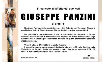 Addio all'ex sindaco di Bagnolo Giuseppe Panzini