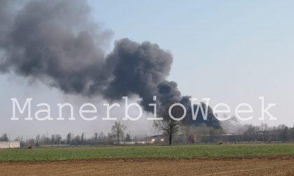 Incendio a Bassano Bresciano si è chiusa la maxiemergenza