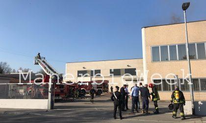 Incendio in impianto lavorativo a Bassano Bresciano
