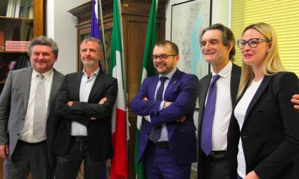 Il presidente Fontana al tavolo territoriale all'Utr di Brescia