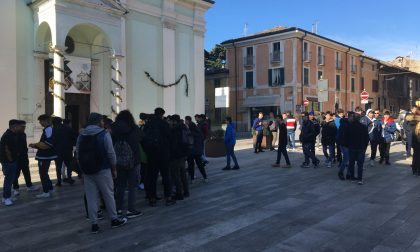 Sciopero in piazza a Castiglione