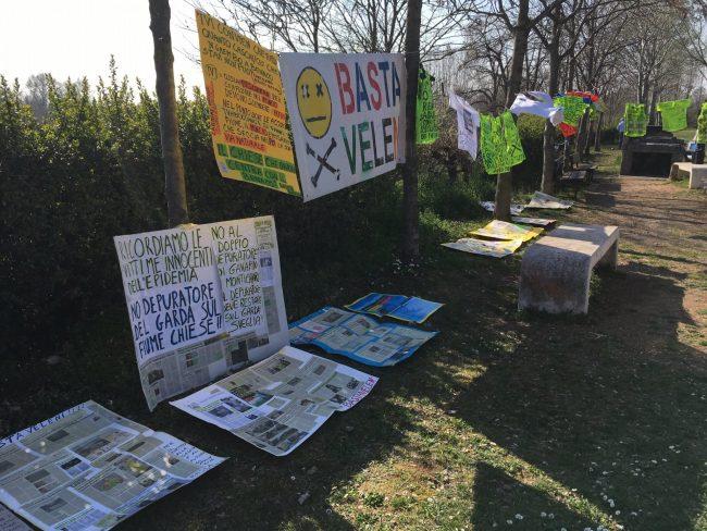 Manifestazione a Montichiari
