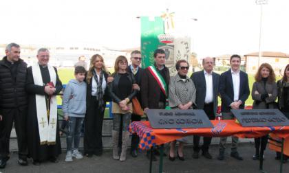 """Cerimonia a Ospitaletto: lo stadio è stato intitolato a """"Corioni - Gozio"""" FOTO"""