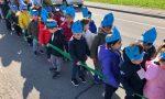 """La """"marcia delle goccioline"""" questa mattina con i piccoli della scuola dell'Infanzia """"Ziacchi"""" di Asola"""