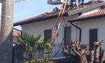 In fiamme il tetto di una casa a Quinzano