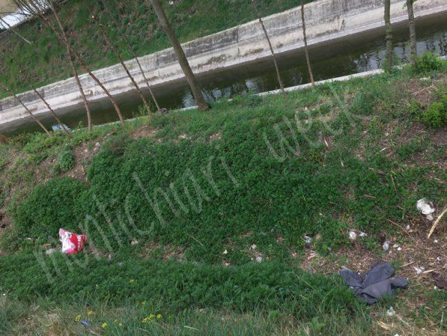 Rifiuti lungo il canale Arnò